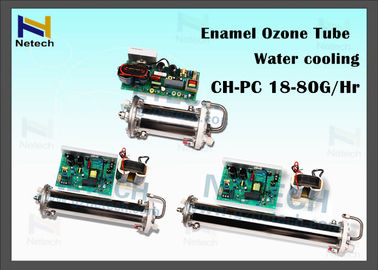 High Concentration 18 - 80g/hr Ozone Generator Parts Water Cooling Enamel Tube